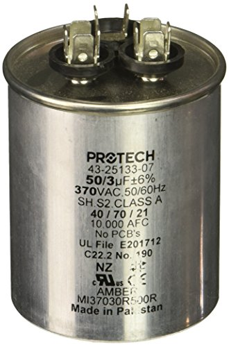 Pro-Tech 662766275353 Condensador-50/3/370 Dual Round