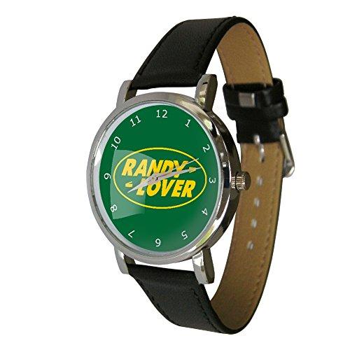 Your Watch Design Unisex Uhr Analog Quarz mit Leder Armband. Randy Lover Design Armbanduhr.
