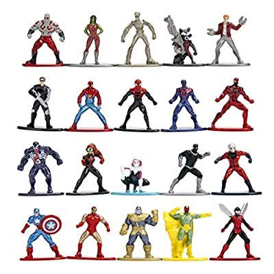 Jada Toys Marvel Nano METALFIGS 20-Pack Wave 1 Die-Cast Figures, 1.65 Inches, Collectible Figurines, 100% Metal, Multi, Standard
