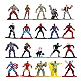 Jada Toys Marvel Nano METALFIGS 20-Pack Wave 1 Die-Cast Figures, 1.65 Inches,...