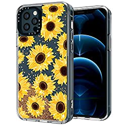 commercial MOSNOVO Luxury Glitter Liquid Gold Sparkle Sunflower Floral Design Designed for iPhone 12 … vogue phone cases