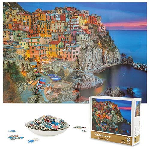 Colmanda Puzzle 1000 Piezas, Puzzle Creativo DIY Arte Rompecabezas, Divertido Juego Familiar Puzzle Puzzles para Adultos, Rompecabezas Puzzle para Decoración Hogareña (Pueblo Pesquero)