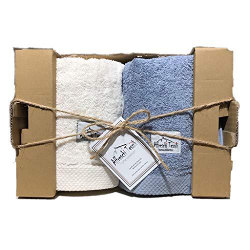 Set asciugamani da bagno (Avorio/Avio)