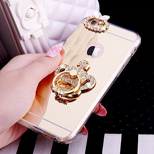 Funda para iPhone 6S, [carcasa de TPU con brillantina] con diamantes de...