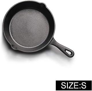 KIODS Olla Sartén Antiadherente de Hierro Fundido sartén de 14-20 cm Cocina de inducción de Gas sartén Huevo panqueque sartén Platos y Utensilios de Cocina