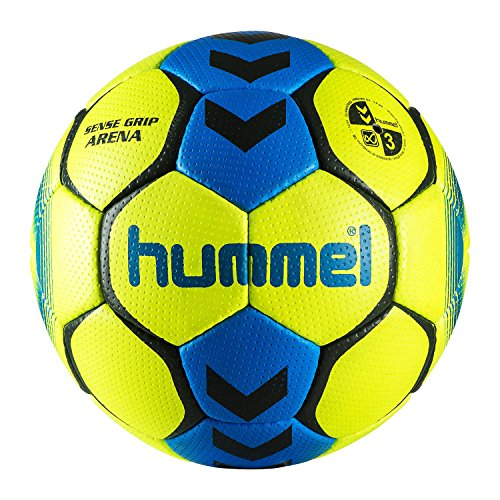 Hummel Sense Grip Arena T3, Safety Yellow/Diva Blue, 3