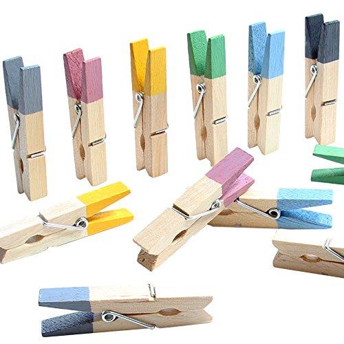 LeTOMA - 18 farbenfrohe Magnetklammern Handmade in Germany in den Farben Blau, Gelb, Grau, Grün, Lila, Schwarz - Magnetclips ideal für Kühlschrank, Whiteboard, Magnettafel, Pinwand, Magnetwand