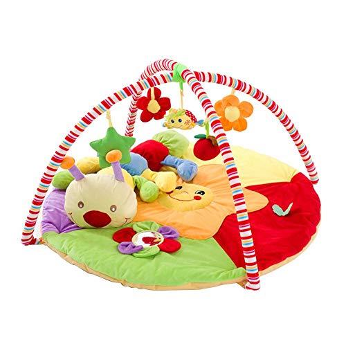 briskay Baby Fitness Rack Superweiche Babyspieldecke Spielmatte Krabbeln Matte Krabbeln Decke Puzzle Spielzeug Mit Raupe Puppe