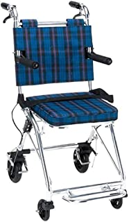 SHOWGG Lightweight Wheelchair Portable Folding Elderly, Disabled, Rehabilitation Patient Medical Supplies Nursing Cart Medical Assistance Transport Wheelchair