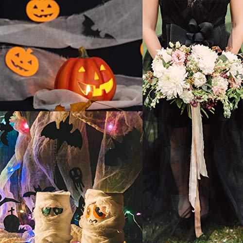 Travistar 91m*15cm Rollos de Tul Carrete de Tulle Cinta Ancho para Decoración Boda Fiesta Cumpleaños Lazos Silla Falda Vestido Camino Mesa Bricolaje Artesanal Regalo