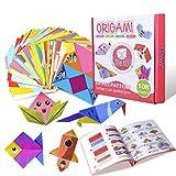 Gamenote Buntes Origami Papier mit 55-seitigem origami buch 118 doppelseitigen, lebendigen Origami Papieren 54 bastelset kinder Origami DIY Kunst bastelpapier