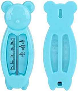 DSstyles Children's Cartoon Indoor Bath Thermometer Bear Water Thermometer Shower Products for Baby Blue