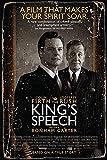 The King's Speech movie poster Cartel de chapa Vintage, placa de pintura de hierro, decoración de pared, letrero de metal, café, pub y cueva del hombre, cartel de arte retro de 8 * 12 pulgadas