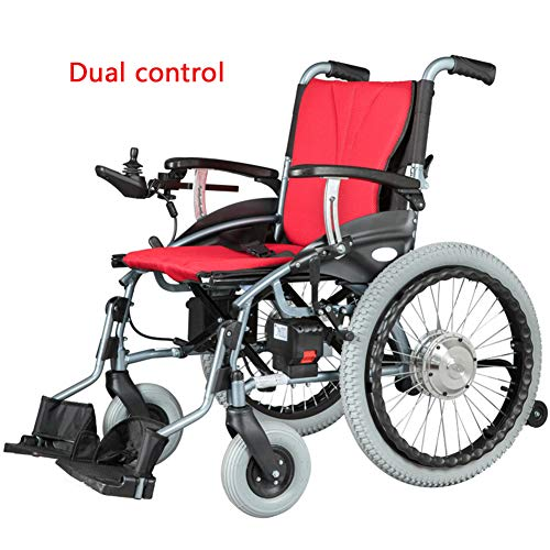LFF Wheelchair Draagbare elektrische rolstoel vouwen, 300 W 24 V 5,2 Ah Li-ion accu, elektrische aluminiumlegering rolstoel, ouderen, gehandicapte scooters