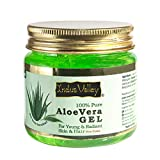 Indus Valley Aloe Vera Gel For Skin & Hair | Aloe Vera Gel Moisturizes Skin | Soothes irritated Skin Caused by Sunburn | Nourishes Hair 175 ml
