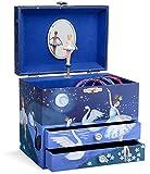 Jewelkeeper - Joyero Musical con una Bailarina y Dos cajones extraíbles, diseño con Brillo - Melodía del...