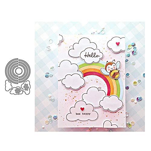 Ponnen Regenbogen Stanzbögen Stanzschablonen Scrapbooking Stanzmaschine Stanzformen für Scrapbooking Kartenbasteln Album Papier Dekor