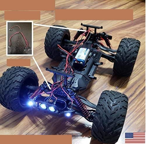 JPV2015 Genuine Product - 6 LED 4W2R RC Light KIT - Fits Hosim 1/12 Scale Electric RC Car - Premium Quality - Handmade in USA Exclusively