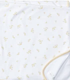 Baby Neutral Baby Duck Print Blanket- Soft Yellow