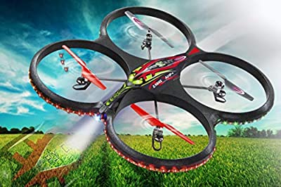 Jamara Flyscout AHP+ Quadrocopter with Compass-LED Camera, 2.4 GHz