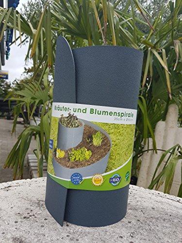 m-n rainman Herbes et Spirale à herbes aromatiques Anthracite Hauteur 35 cm Ø 55 cm