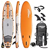 THURSO SURF Inflatable Stand Up Paddle Board All-Around SUP 10'/10'6/11' Waterwalker Deluxe Package – Carbon Shaft Paddle | Roller Backpack | Pump | Leash