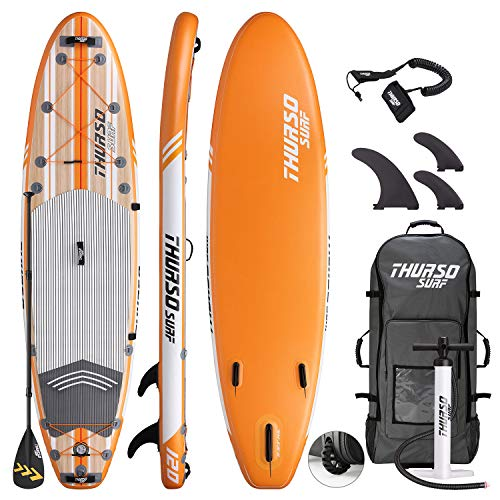 THURSO SURF Inflatable Stand Up Paddle Board All-Around SUP 10'/10'6/11' Waterwalker Deluxe Package