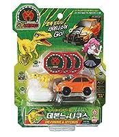 Sonokong Dino Mecard DEVONNE & NYCHUS 恐竜メカード(海外直送品) + Rubystone Cell Phone Ring [並行輸入品]