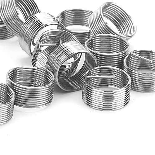 20Pcs Thread Inserts, Stainless Steel Sleeve Reducing Nut Repair Nut Kit, Used in Low-Strength Engineering Materials, M14 x 1 x 1D