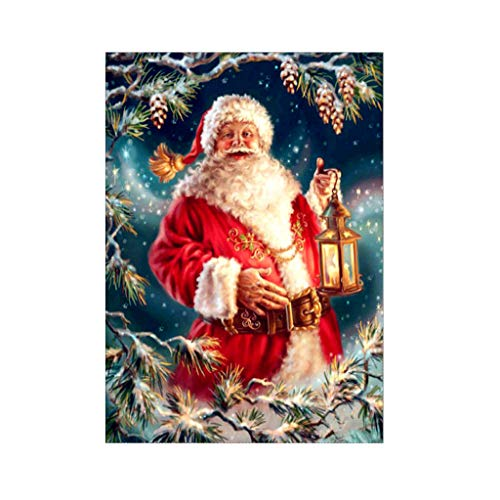 Christmas Santa Cartoon 5D Diamond Painting for Adults and Children,DIY Rhinestone Diamond Painting Cross Stitch Rhinestones Embroidery Pictures Craft Home Wall Decoration Creative Gift