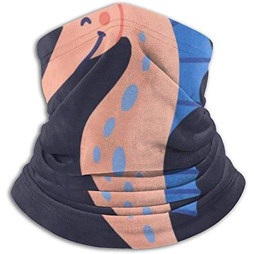 Linger In Cuello Bufanda Caballito de mar Gracioso Lindo Aislado sobre Fondo Oscuro Pasamontañas Máscara de esquí Más cálido Invierno Abrigo para la Cabeza
