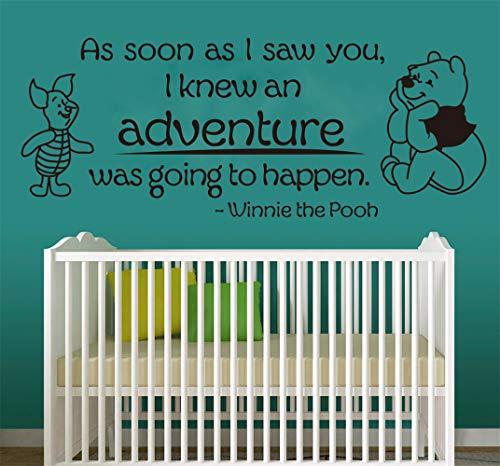 Winnie l'ourson sticker créatif mignon Winnie l'ourson pour les chambres d'enfants citations chambre d'enfant chambre d'enfants