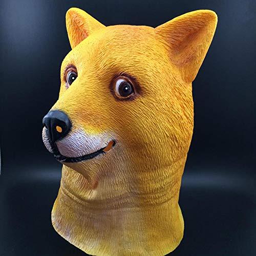 Halloween Masker, Hond Headdress Masker Trouwe Hond Hoofd Latex Gelatine Masker Grappige Halloween Kostuum Party Kinderen en Volwassenen