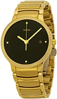 Centrix Jubile Black Diamond Dial Gold-Plated Stainless Steel Mens Watch R30527713