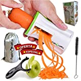 FabQuality No1 Best Seller Premium Vegetable Spiralizer Veggetti Spiral Slicer COMPLETE BUNDLE x4
