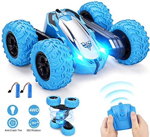 Remote Control Car, RC Cars Stunt Car, 4WD 2.4GHz Double Sided Rotating 360 Flips Vehicles, Drift High-Speed Off-Road Stunt Car Toys for 3 4 5 6 7 8-12 Year Old Boy Toys Christmas Xmas Birthday Gift
