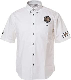 SINA COVA Short Sleave Button-Down Shirt Button-Down Shirt Short Sleave Shirt Casual Shirt Shirt Cotton Anchor Design Pattern Men's Marine wear Golf wear 19124510
