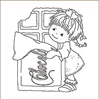 10x10かわいい女の子DIYスクラップブッキングフォトアルバム用透明クリアシリコンスタンプシール装飾クリアスタンプ