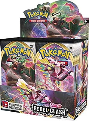 Pokémon POK81681 Pokemon TCG: Sword & Shield 2 Rebel Clash Booster Display, Multi por Pokémon