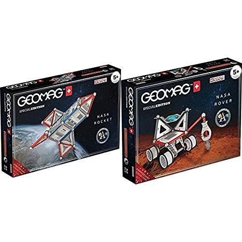 Geomag Special Edition Rover NASA Construcciones Magnéticas, Multicolor (52 Unidades) + Special Edition Raqueta NASA Construcciones Magnéticas, Multicolor (84 Unidades)