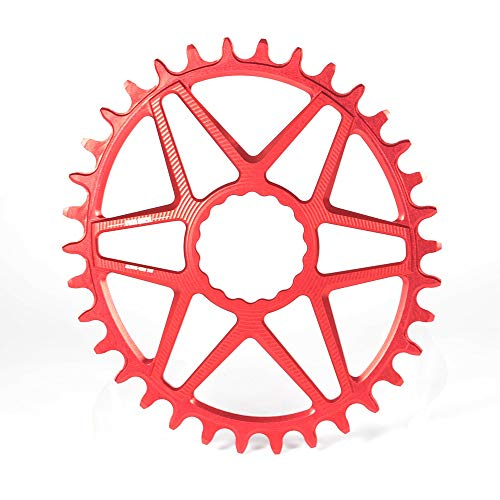 Hojuan 3mm Offset Oval Wide Grenzen Kettenblatt for Kurbeln MTB Mountainbikekettenkettenrad Rad-Fahrrad-Gang 30-36T (Color : Red 30T)