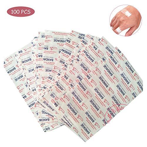 100 Stück unsichtbares Pflaster, Atmungsaktiver Klebeband, Wundauflagen, Blutstillung Aufkleber, Erste Hilfe Verband, Heftpflaster
