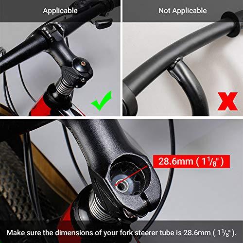 Lerway Fahrrad Höhen-Adapter Vorbauten Lenkererhöhung für Radsport Ahead Vorbau Mountainbike Legierung Aluminium 11/8″,117mm – Schwarz - 3