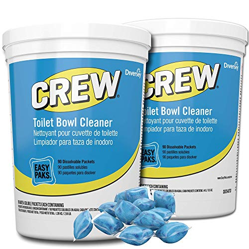 CREW CBD540731 Toilet Bowl Cleaner Easy Paks, Packets Foam & Dissolve to Leave Toilet & Urinal Sparkling Clean, Fresh Floral Scent, Paks, 90-Count (Pack of 2)