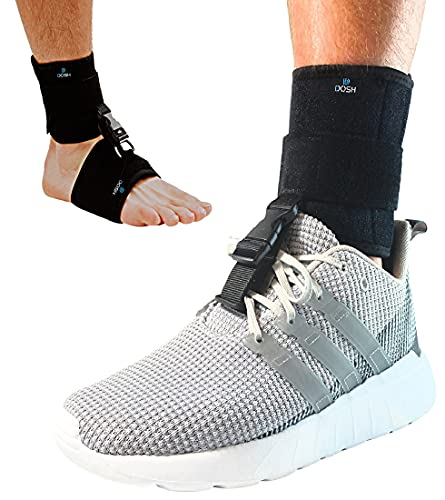 DOSH AFO Foot Drop Brace - Drop Foot Brace for Walking - Use as a Left or Right AFO Brace - Ankle Foot Orthosis Support Brace for Men and Women - Drop Foot Braces are used for Stroke, MS, & much more…