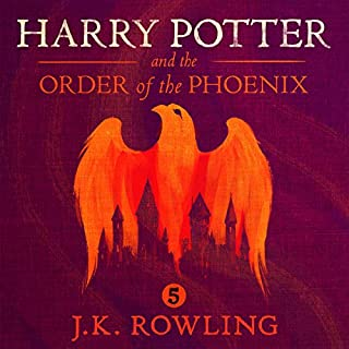Harry Potter and the Order of the Phoenix, Book 5                   Written by:                                                                                                                                 J.K. Rowling                               Narrated by:                                                                                                                                 Jim Dale                      Length: 27 hrs and 2 mins     917 ratings     Overall 4.9