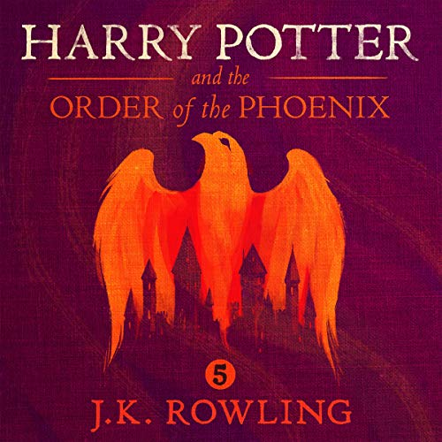 Harry Potter and the Order of the Phoenix, Book 5                   Written by:                                                                                                                                 J.K. Rowling                               Narrated by:                                                                                                                                 Jim Dale                      Length: 27 hrs and 2 mins     923 ratings     Overall 4.9