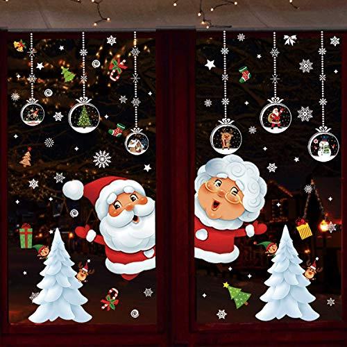 DURINM Pegatinas De Navidad Arbol Fiesta Extraíbles Adorabl