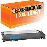 Gorilla-Ink 1 Cartuccia Toner XXL compatibile con Samsung CLT-C404S Cyan | Adatto a Samsung Xpress C430 C430W C480 C480FN C480FW C480W C482W SL-C430 SL-C430W SL-C483 SL-C483FW SL-C483W