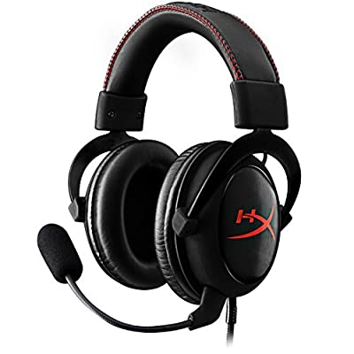HyperX (KHX-HSCC-BK) Cloud Core Gaming Headset - Durable Aluminum Frame - 53MM Drivers - Detachable Microphone - Works with PC/PS4 and Xbox One, Nintendo Switch from Kingston Technology Company Inc